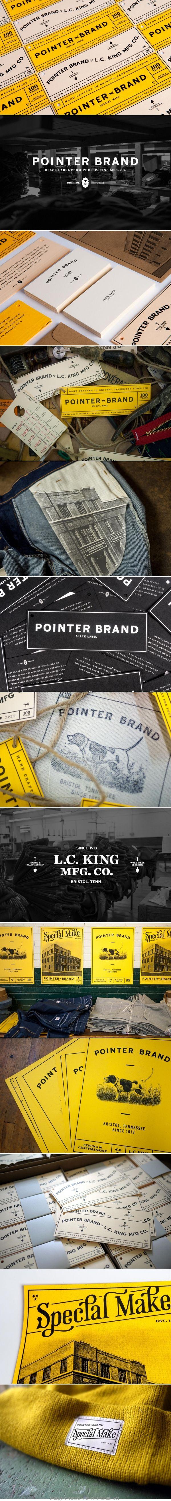 Pointer brand logo label corporate branding visual graphic