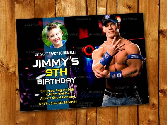 Wwe John Cena Rumble Birthday Party For Little Boy And By Point71 Birthday Party Modern Invitation Birthday