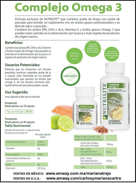 complejo omega 3 amway beneficios