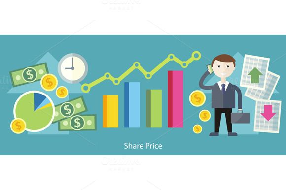 Share Price Exchange Concept Design Marketing Budget Project Management Project Management Tools