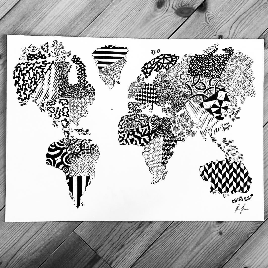 Httpsinstagramsimonestubgaard new size 50x70cm world worldmap drawing art httpsinstagramsimonestubgaard new size 50x70cm world gumiabroncs Gallery