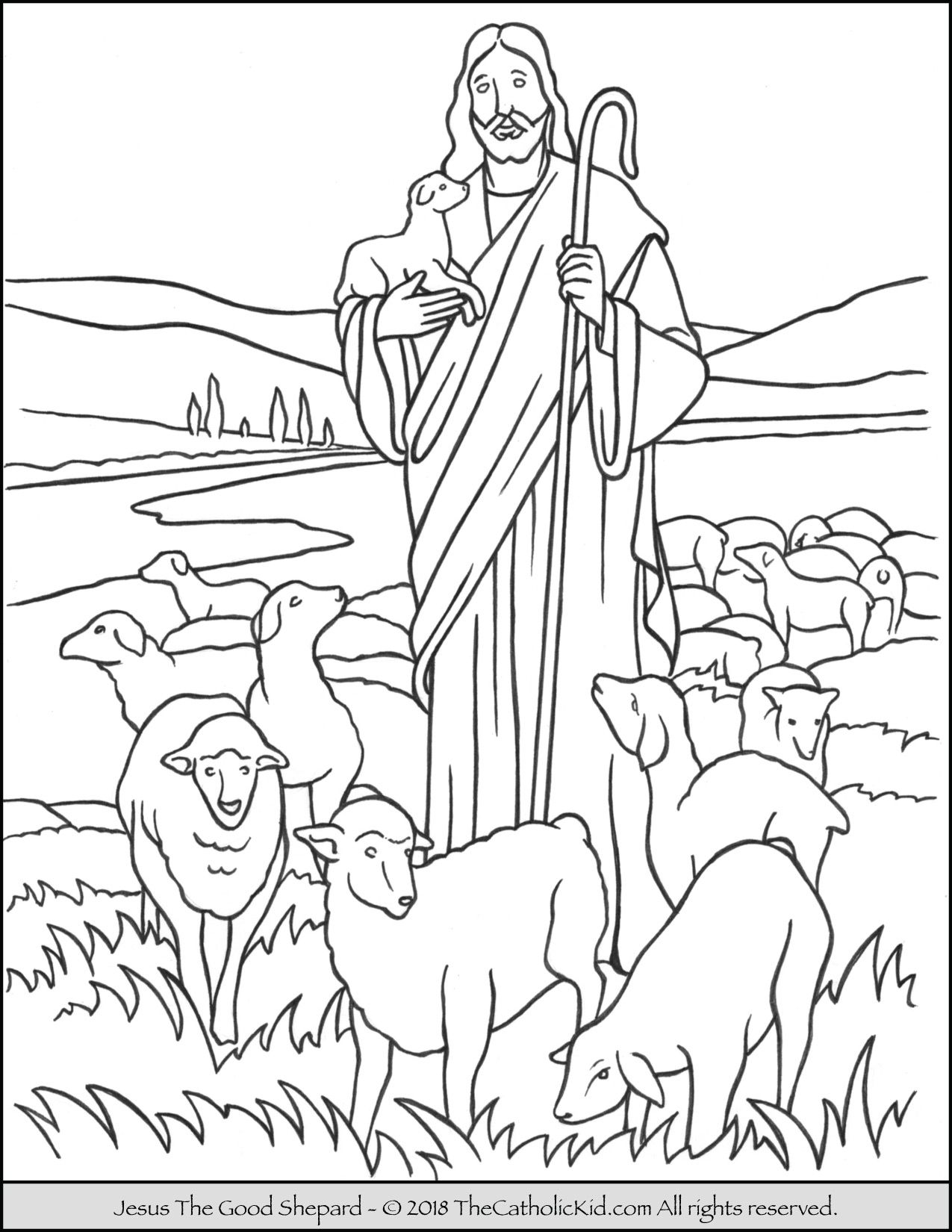Jesus The Good Shepard Coloring Page Jesus Coloring Pages Sunday School Coloring Pages Good Shepard