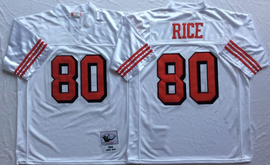 cee5817a086 mitchell ness san francisco 49ers 80 jerry rice throwback white football  jersey  49ers 80 jerry rice white 75th throwback jersey