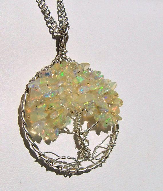 Opal tree of life pendant ethiopian opal welo opal wello opal tree of life pendant ethiopian opal welo by mandalarain 10000 mozeypictures Choice Image