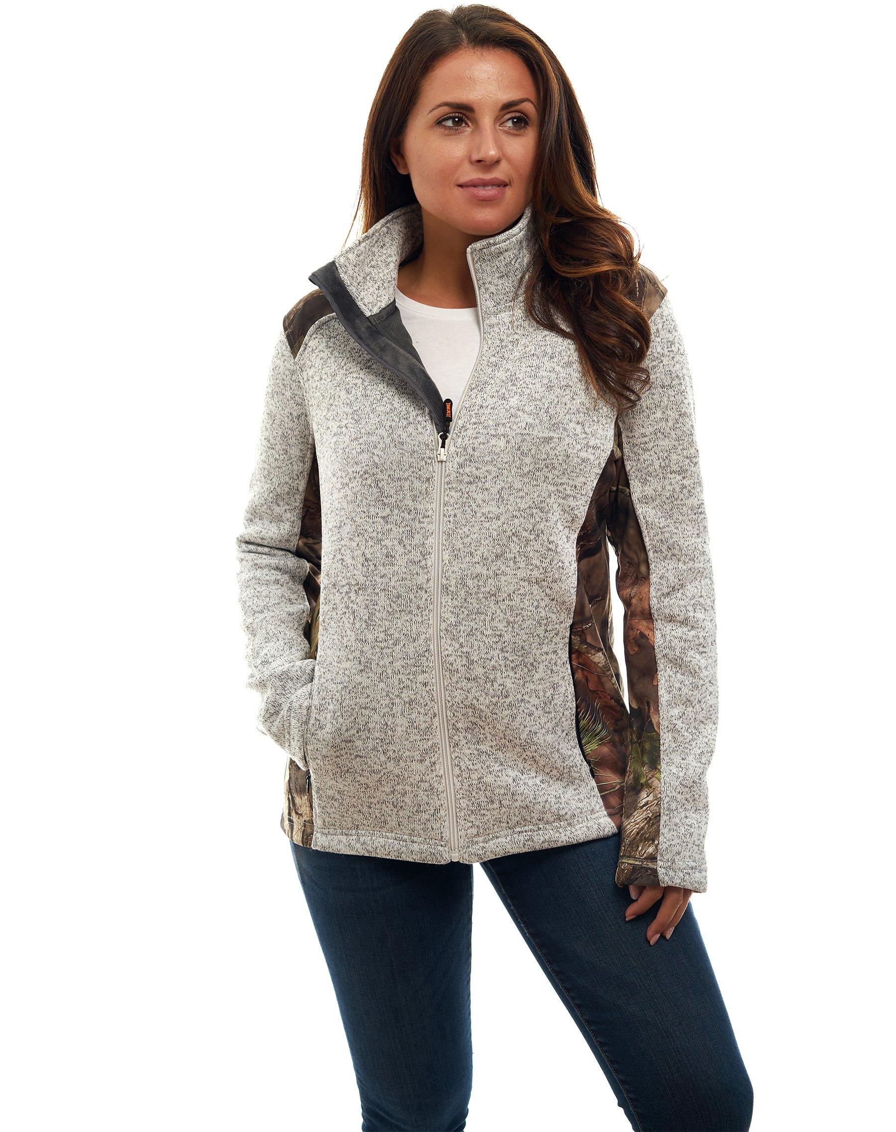 Women's Mossy Oak Signature Sweater Fleece Full Zip Jacket