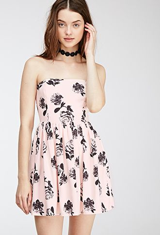 Strapless X-Ray Roses Dress | FOREVER21 | My style - haves, want and ...