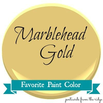 Favorite Paint Color ~ Marblehead Gold   Benjamin moore, Gold and Room