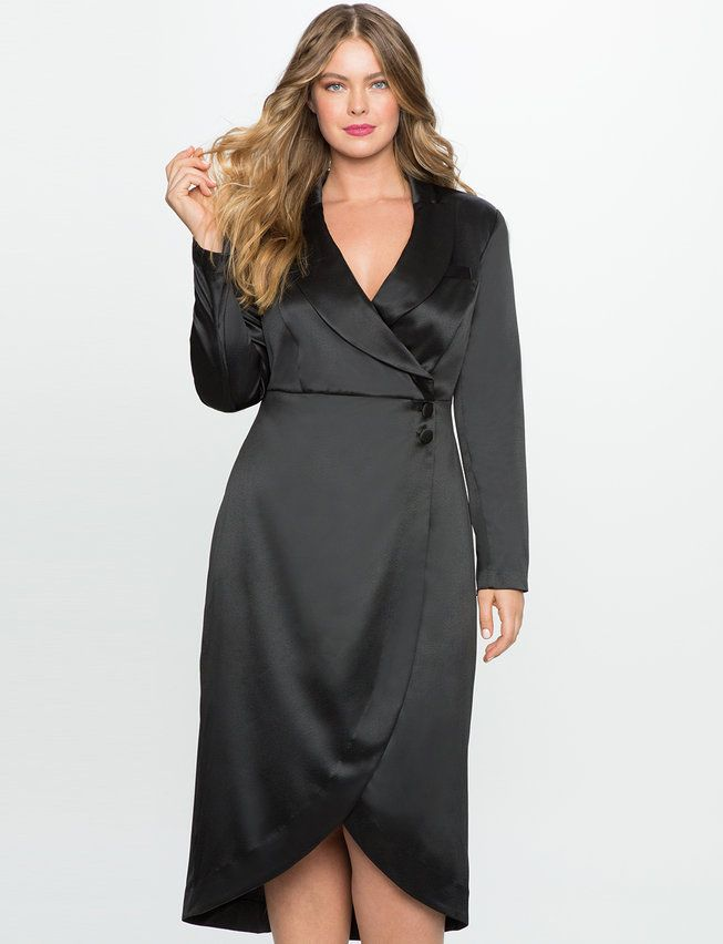 Studio Tuxedo Dress | Plus size holiday dresses, Plus size ...