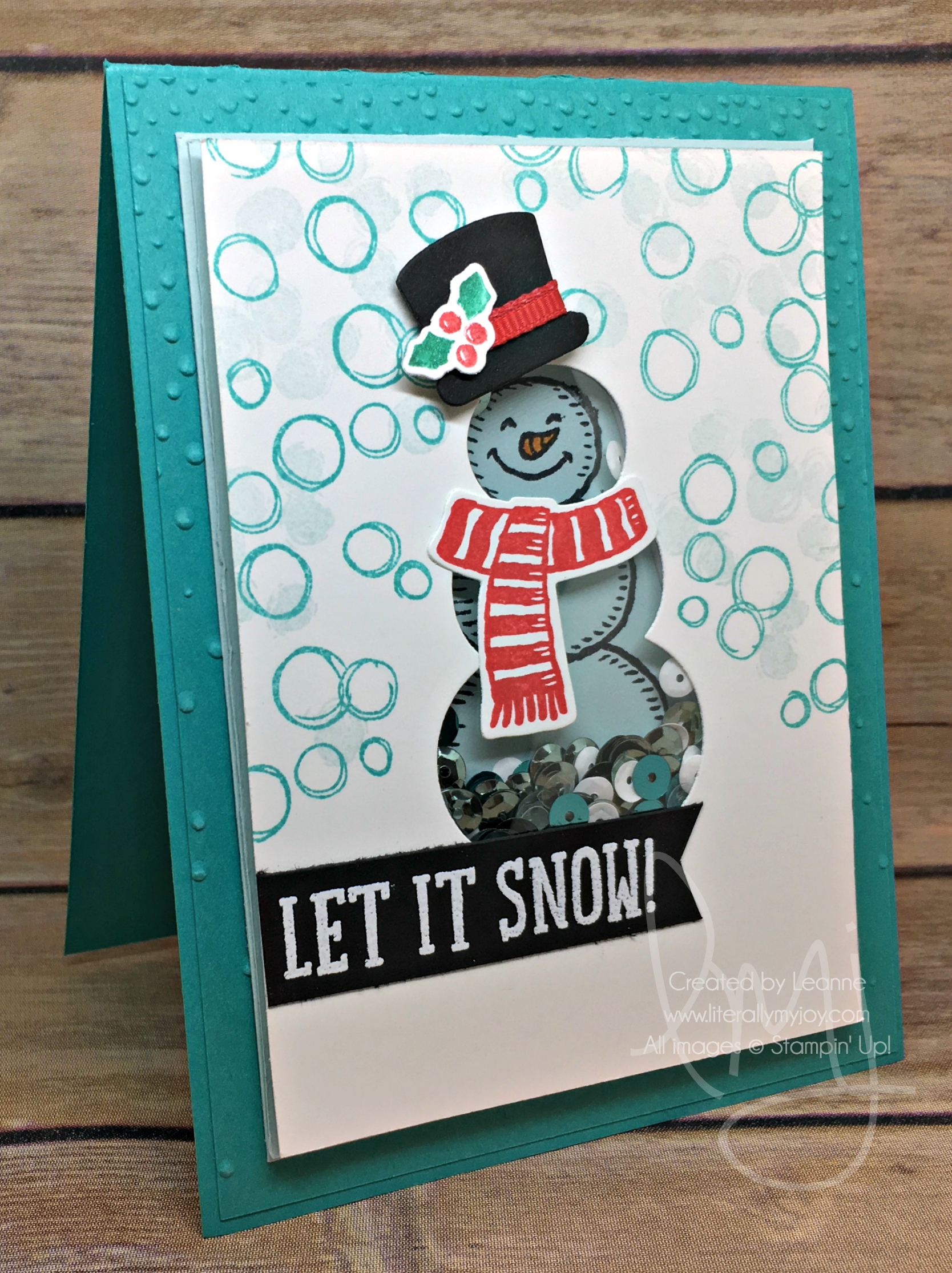 How Many Days Until Christmas 2020.Shaker Sequins Snowman Stampin Up 2019 2020 Xmas Cards