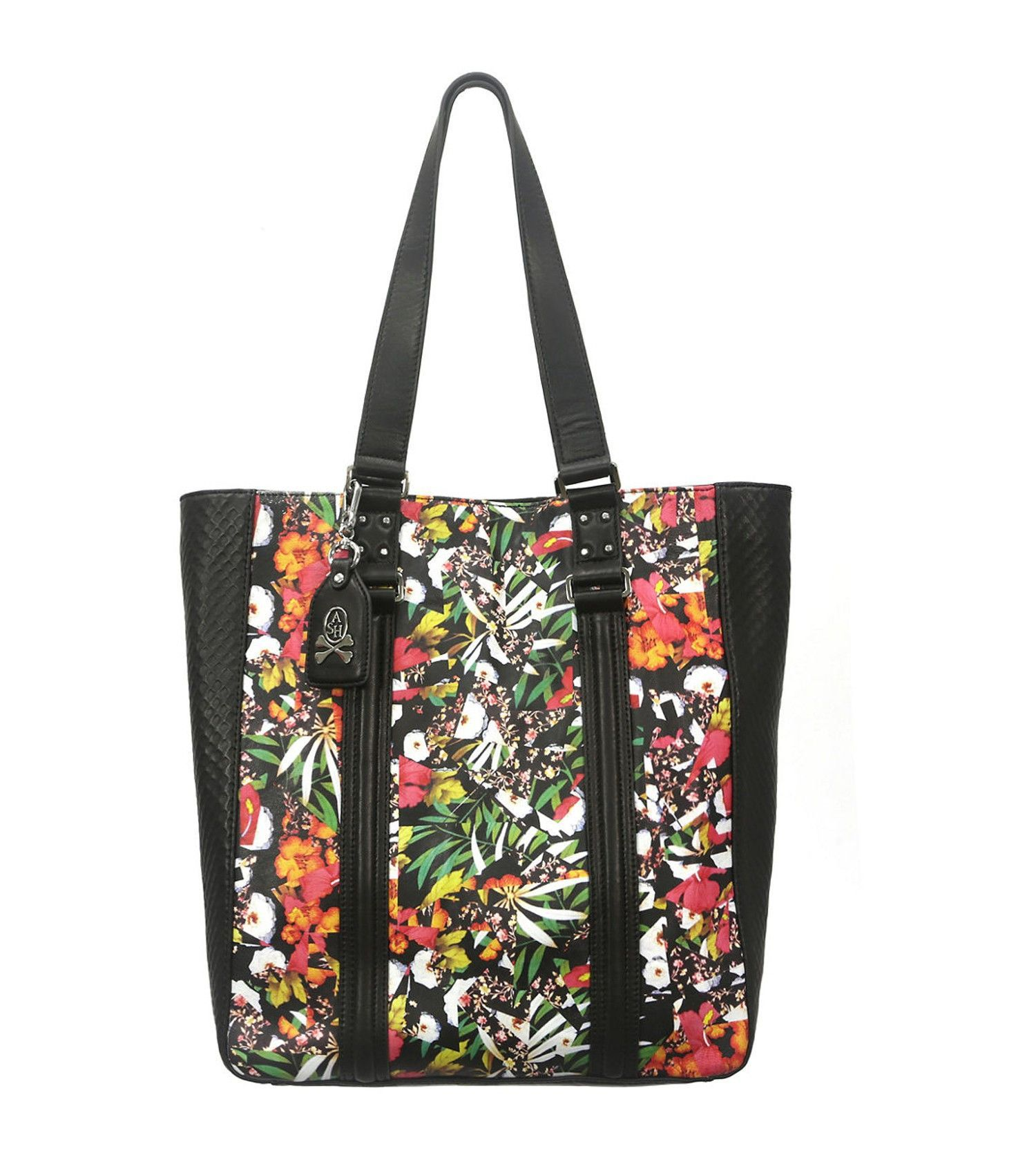 ASH Indy Bahia Floral-Print Leather Tote