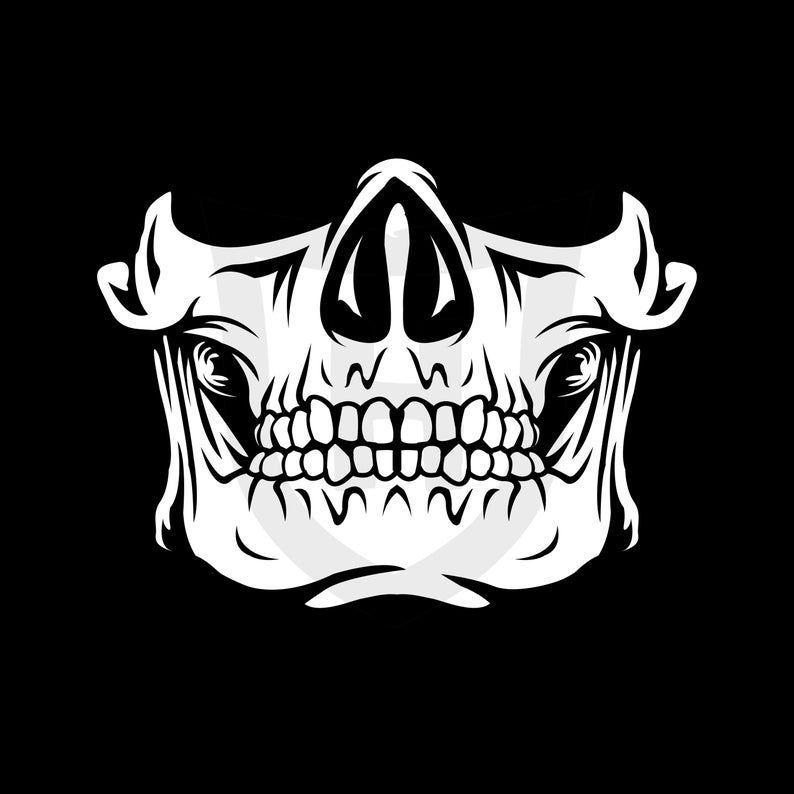 Skull Face Mask Svg Skull Mask Skeleton Mask Funny Face Mask Design Cricut File Digital Download In 2021 Skull Face Mask Skull Mask Skeleton Mask