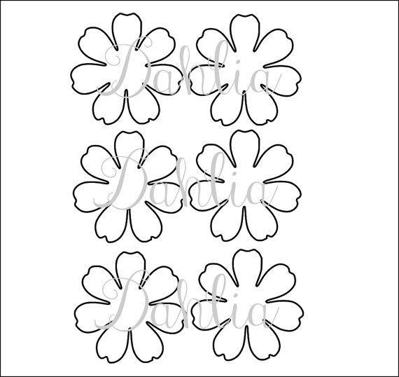 Small Dahlia Paper Flower Template, DIY Paper Flowers