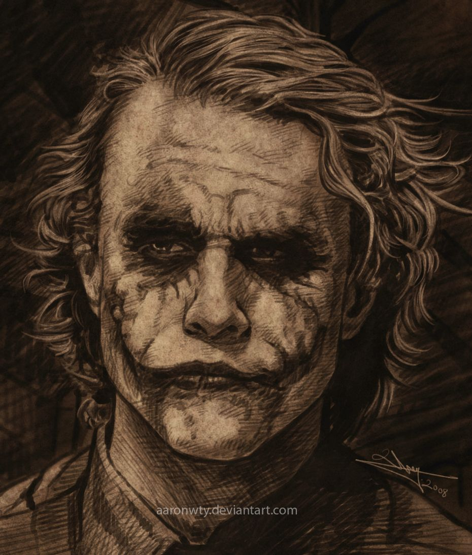 Joker Heath Ledger Drawing Google Search Why So Serious