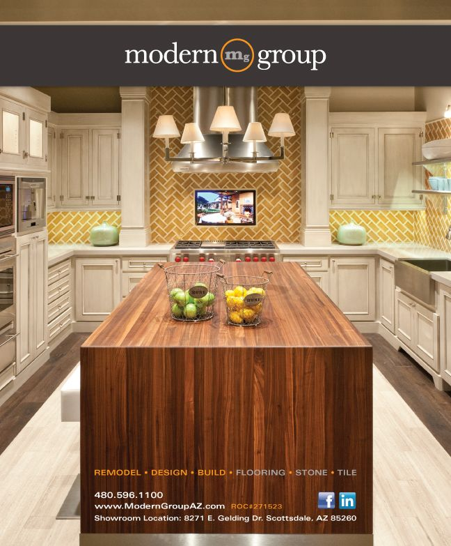 Ad design for Modern Group AZ