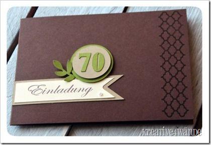 einladung zum 70. geburtstag - kreative4wände | stampin up, Einladungsentwurf