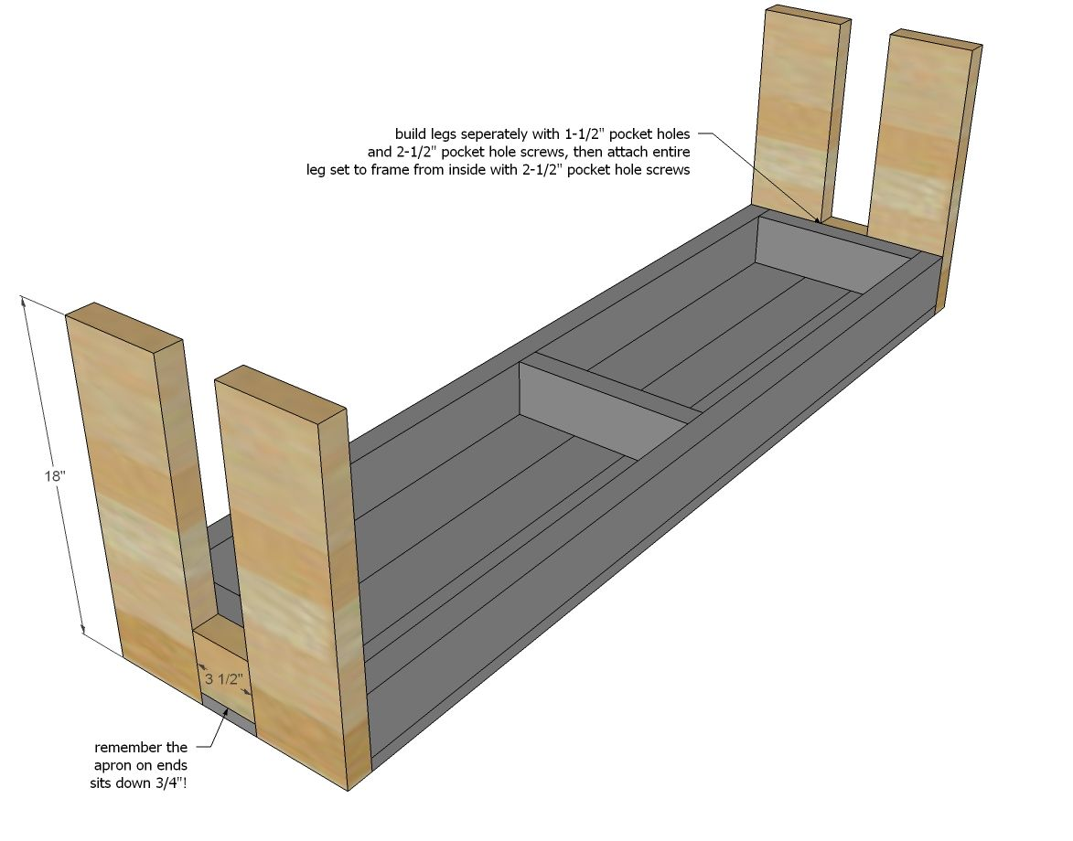 Ana White | Build a Modern Farm Bench - New/Updated Pocket Hole Plan ...