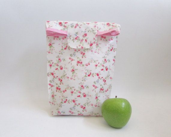 Water proof oilcloth bag Food Storage Bag by shiraproducts on Etsy