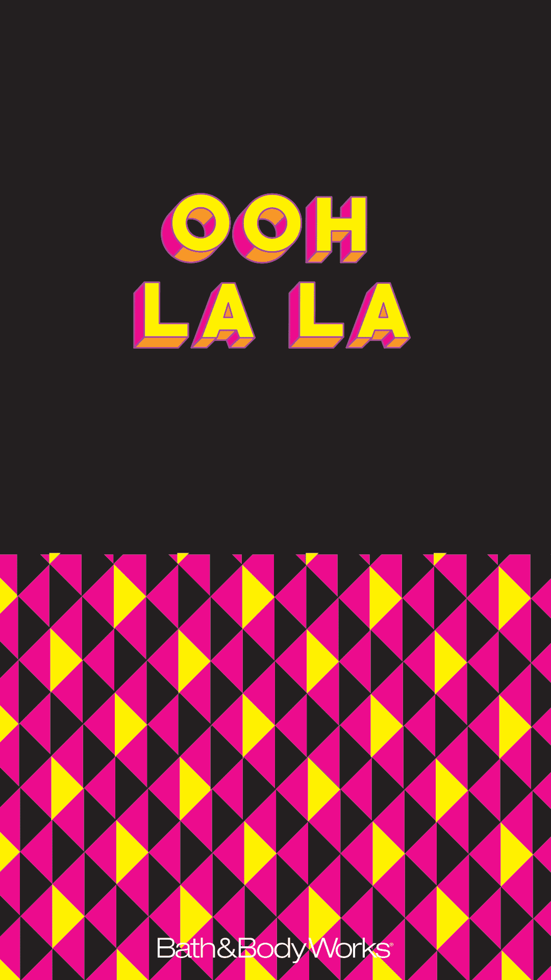 Ooh La La Wallpaper Graphic design poster, Words