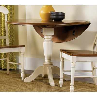Buy Low Country Sand 42 Inch Round Drop Leaf Pedestal Table on sale Countrt Kitchen Table Set Affordable on
