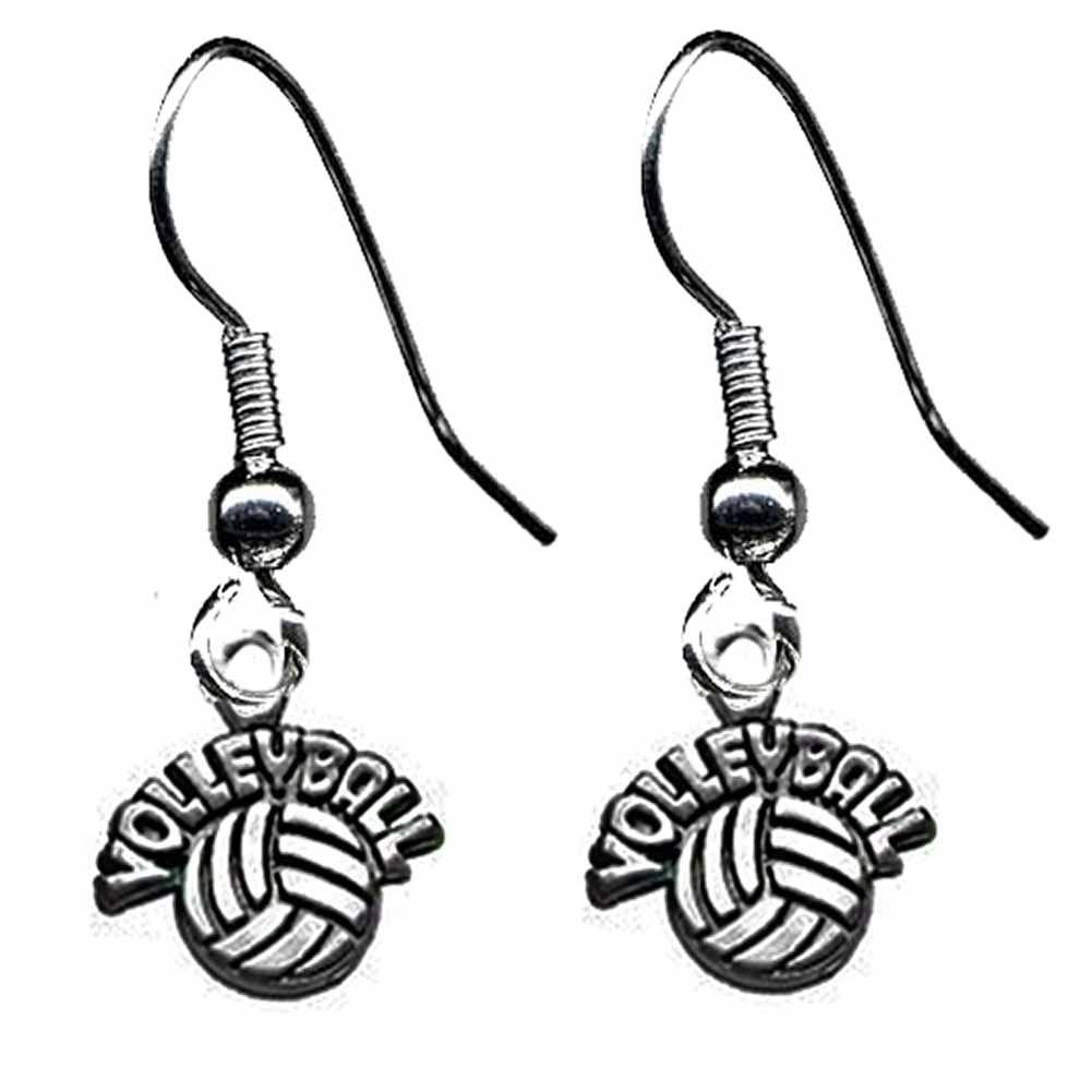Volleyball word earrings!