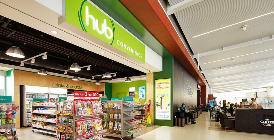 Hub Convenience Store Associated Shopfitters Store Signage Outdoor Signage Perth Airport