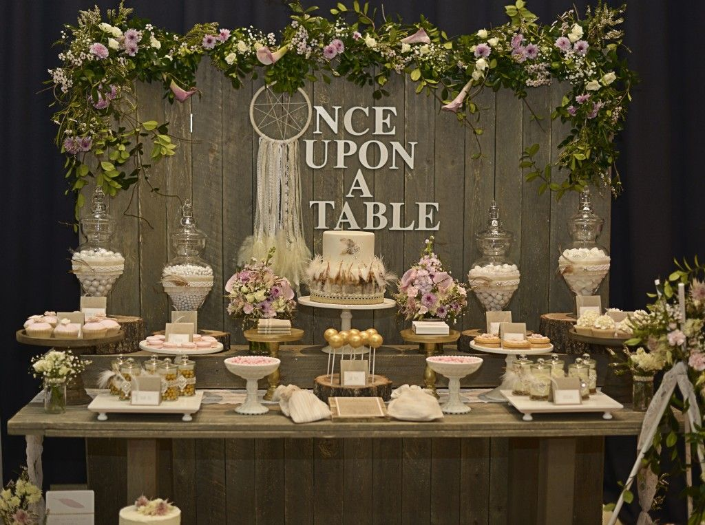 Once Upon A Table E S Wedding Rustic Bohemian Chic Dessert Confetti Fair At Catch My Party