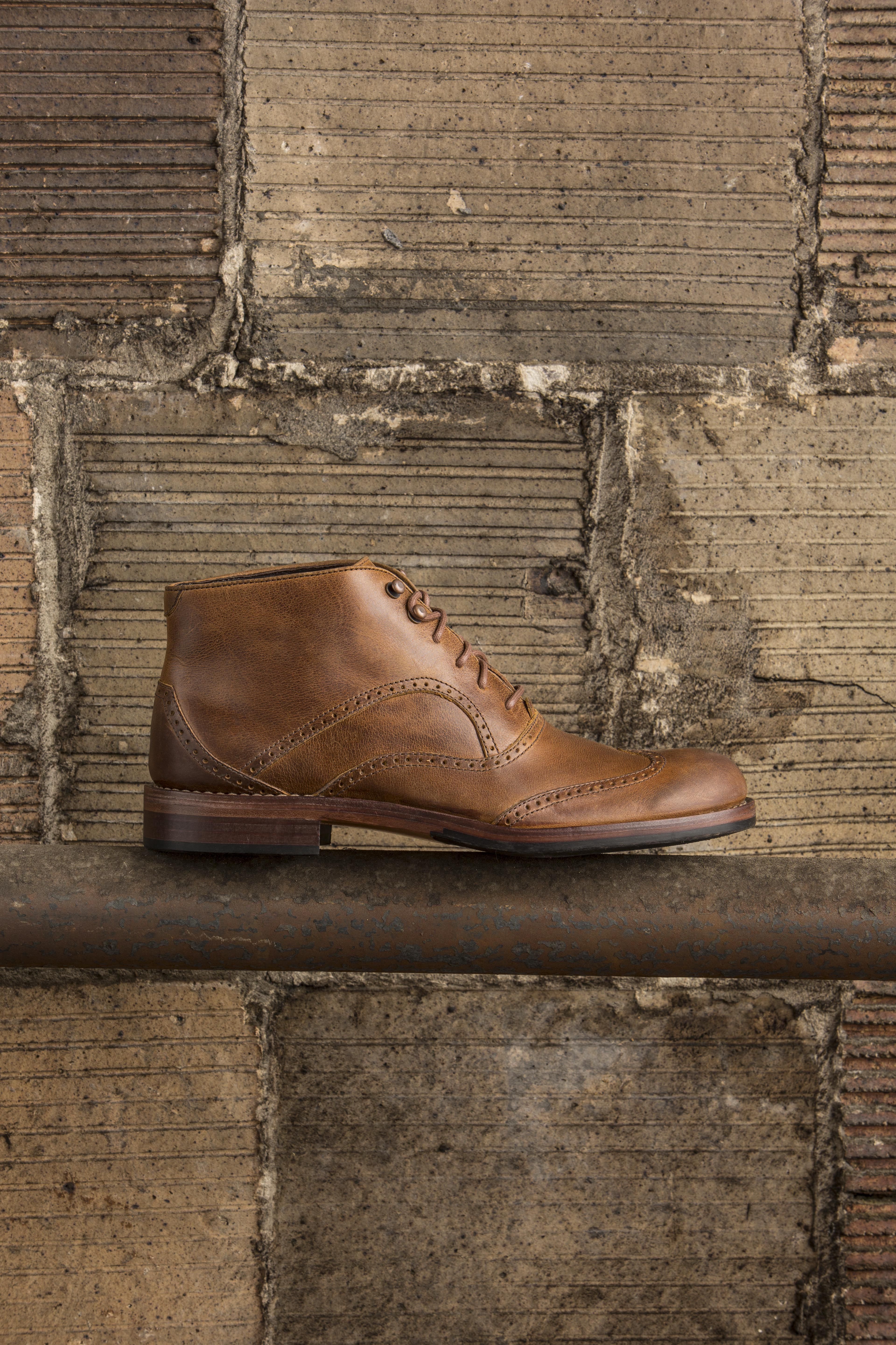 cef29973f89 Men's #1000Mile Wesley Wingtip Chukka (Tan) | Men's Boots and Shoes ...