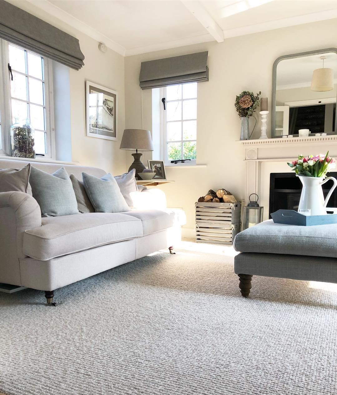 Zoe On Instagram Yes To Days Like These Sunlight Sunshinethroughmywindow Spring Countr Cosy Living Room Blue Living Room Decor Home Living Room
