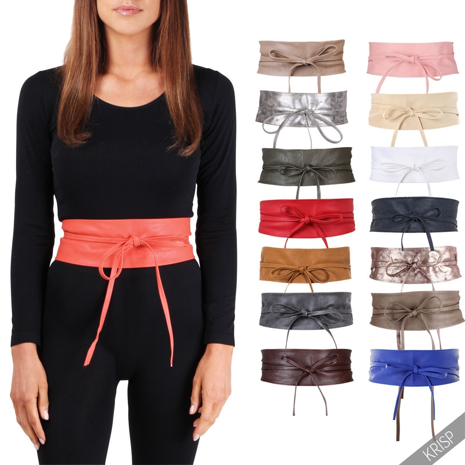 daf2c4a022 Cinturón Mujer Ancho Tacto Cuero Fiesta Cintura Nudo Talla Plus Moda Nuevo