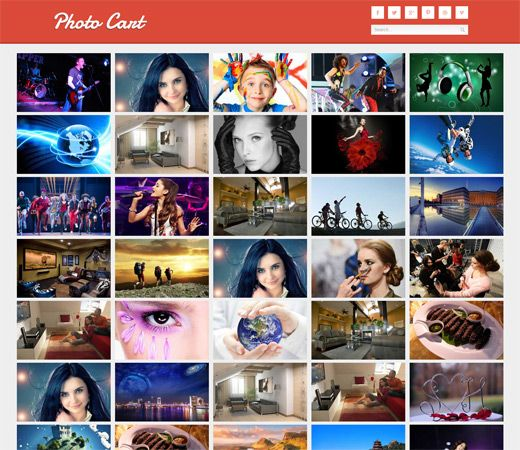 Gallery Station Photo Gallery Mobile Website Template. http ...