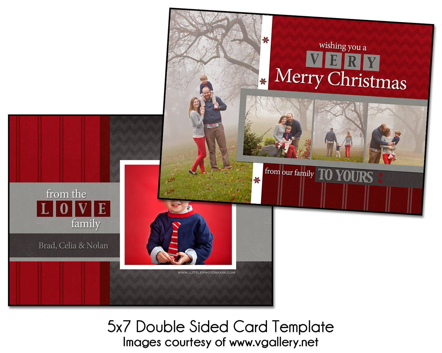 Two Sided Postcard Template Christmas Card Template Block Christmas 5x7 Double Sided Postcard Template Christmas Card Template Card Template