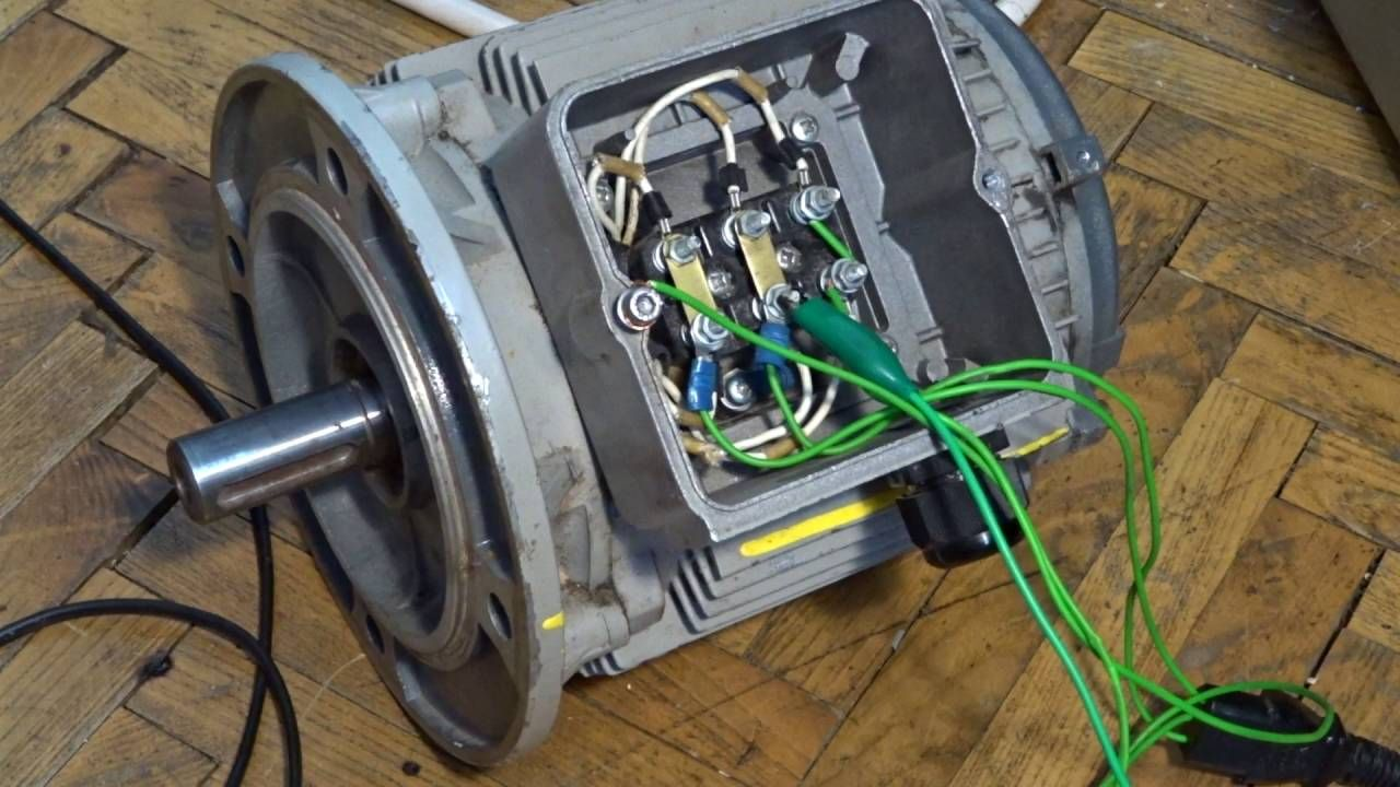 How To Connect Three Phase Motor To Single Phase Diy Wood Projects Furniture Electrical Projects Motor