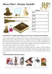 English teaching worksheets: Harry Potter | Eloquent English ...