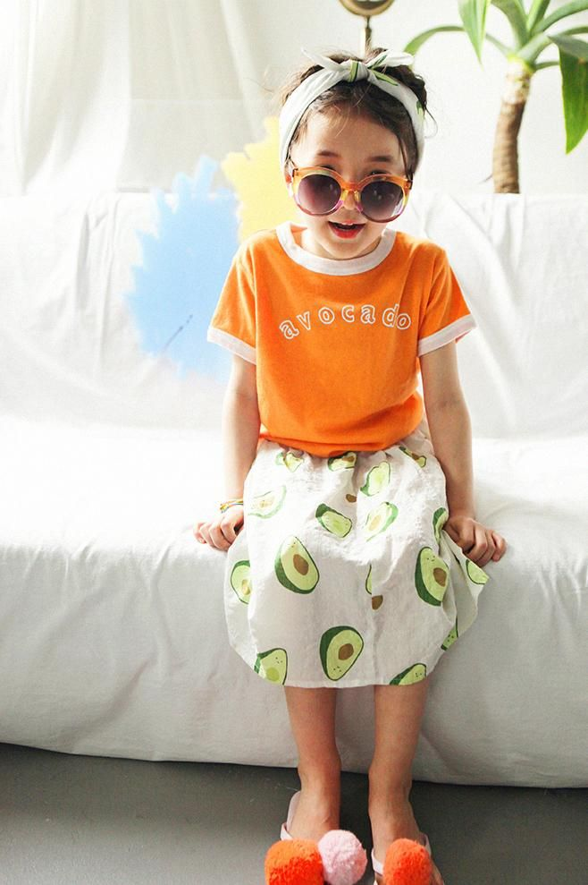 f0d314bba8 AeHem Avocado T-Shirt in 3 colors at Color Me WHIMSY - contemporary kid s  clothes ethically made in South Korea