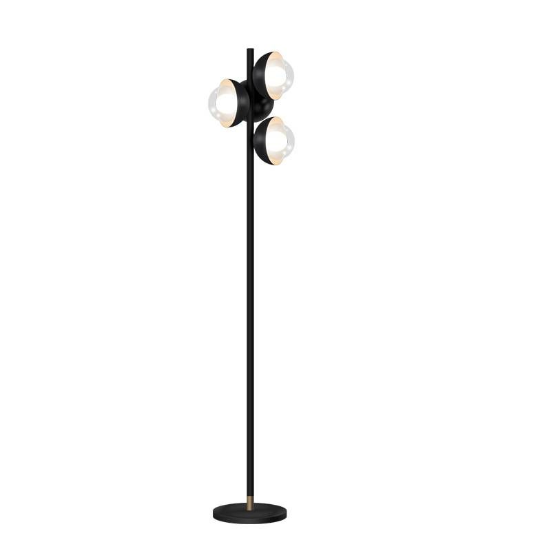 Kung Simple Modern Floor Lamps Black Color Body Clear Galss Lampshade Creative Night Standing Lamp G9 Led Bulb Post Modern Light G9 Led Bulb Modern Floor Lamps Black Floor Lamp