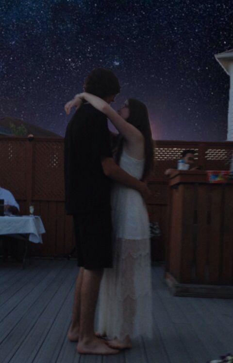 Teens kissing at dances