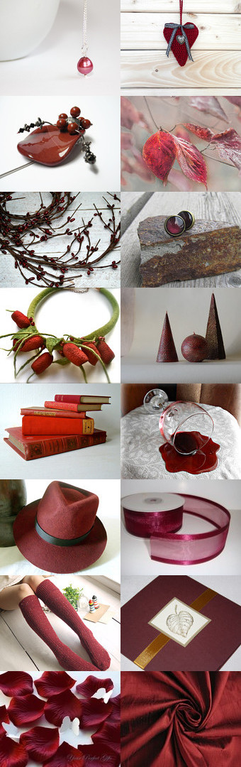Burgundy color by Roma Jure on Etsy--Pinned with TreasuryPin.com