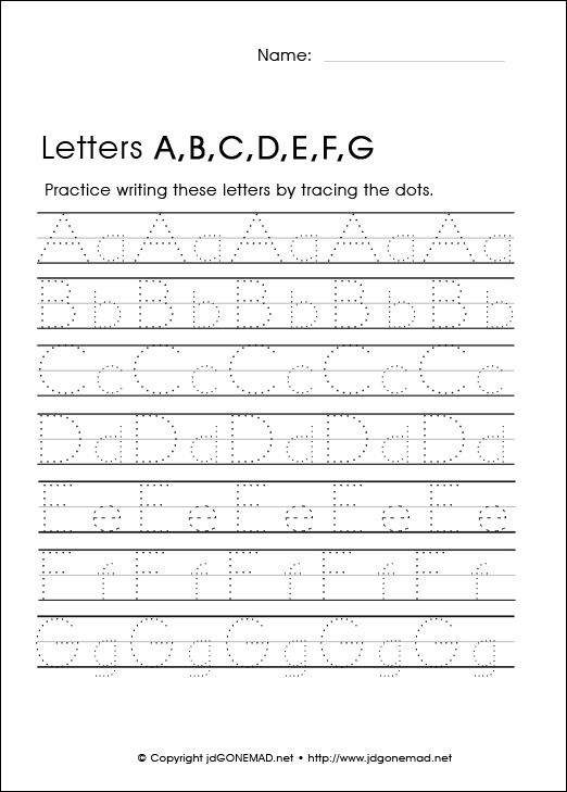 Letter Tracing Alphabet AG – Letter Writing Worksheets for Kindergarten