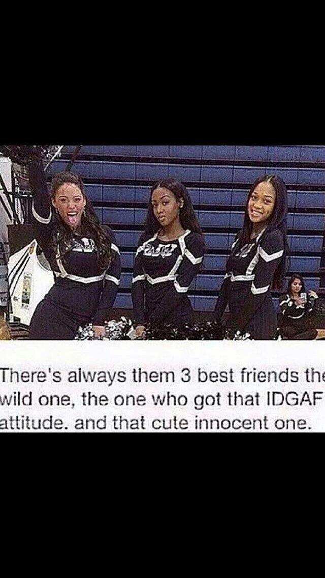 3 Best Friends Meme : friends, Innocent, Isn't, Always, Seems..., She's, Little, Crazy, Inside, (that's, Btw)., Comment…, Friend, Goals,, Three, Friends,, Goals