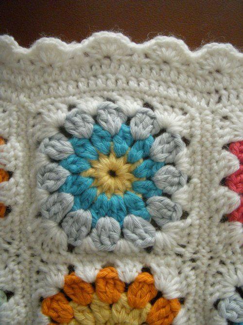couverture SOT au crochet coton DROPS PARIS ma création