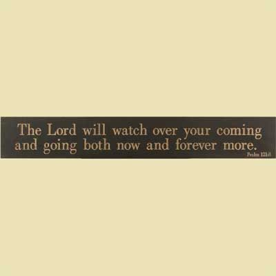 The Lord will Watch... Black Wooden Plaque – ChristianGiftsPlace.com Online Store