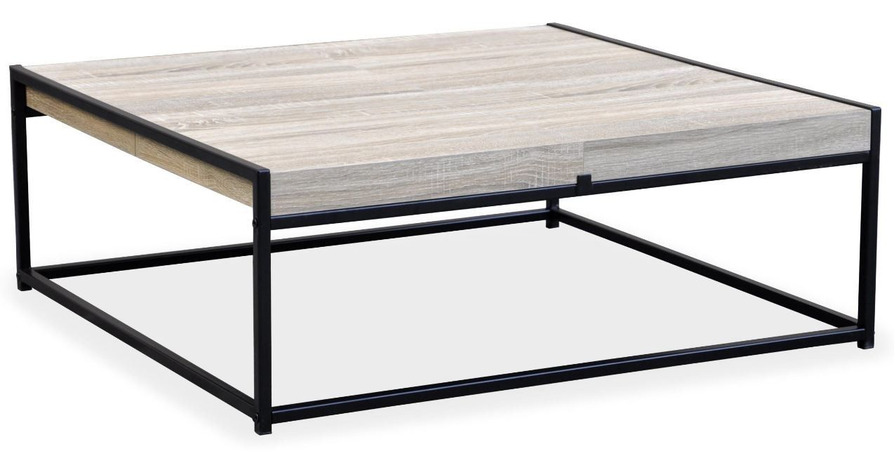 Table Basse Reversible Chene Clair Et Metal Noir Doumy Lestendances Fr En 2020 Table Basse Jolie Table Basse Metal Noir
