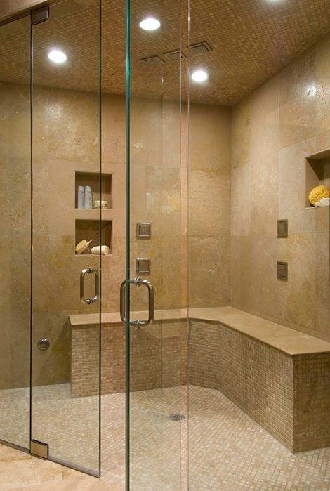 Space For A Large Two Person Shower With Wrapped Bench Combine