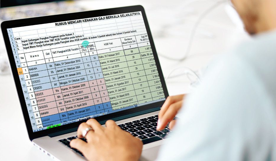 Operator Sekolah Referensi Operator Sekolah Aplikasi Kenaikan Gaji Berkala Kgb Menggunakan Excel Excel Microsoft Excel Microsoft