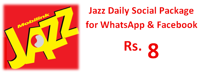 Now Jazz Bring Jazz Daily Social Package For Whatsapp And Facebook And Get 500 Mbs For 24 Hours In Rs 8 Only So Keep Contact Your Lover In 2020 Jazz Social Daily