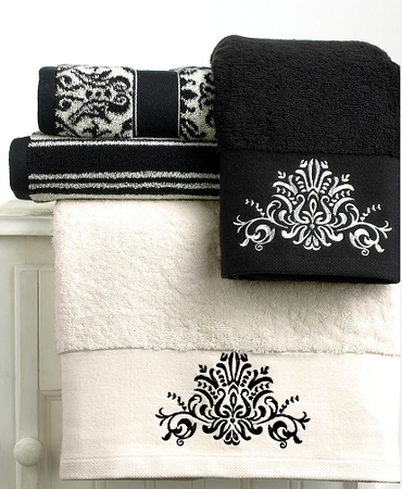 Like This Design Bernina Has Some Vintage Lace Designs - Black decorative hand towels for small bathroom ideas