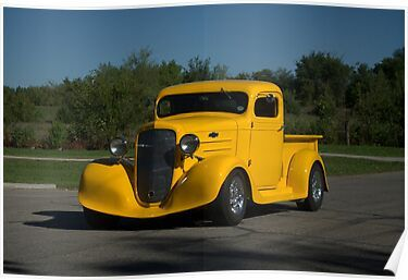 '1936 Chevrolet Pickup Hot Rod' Poster by TeeMack