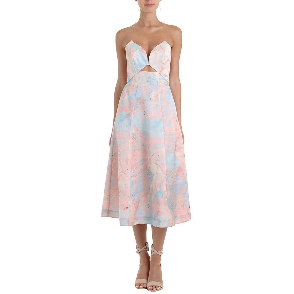 Seer Marble Plunge Dress