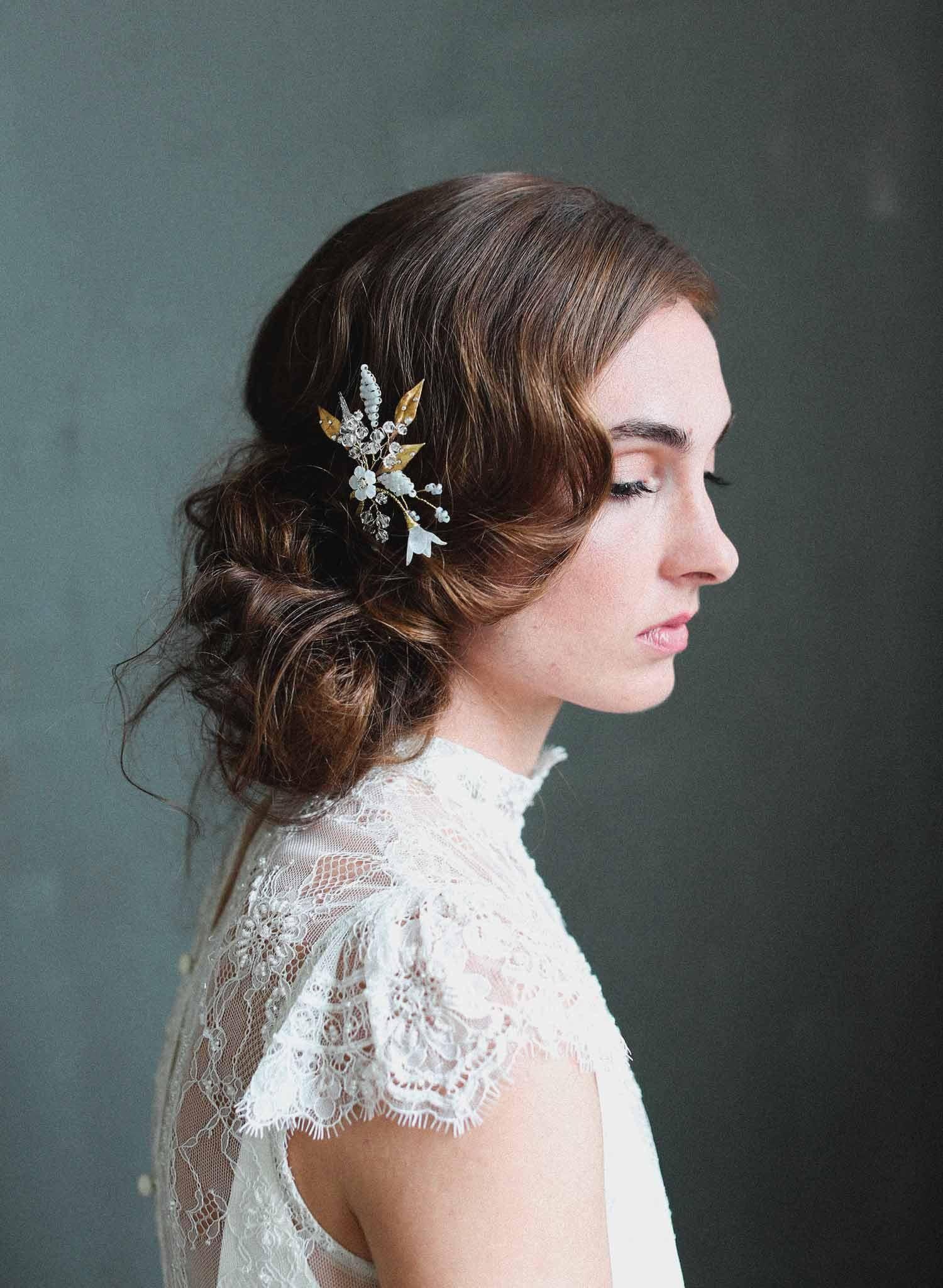 bridal hair pin - charming blossom hair pin - style #715