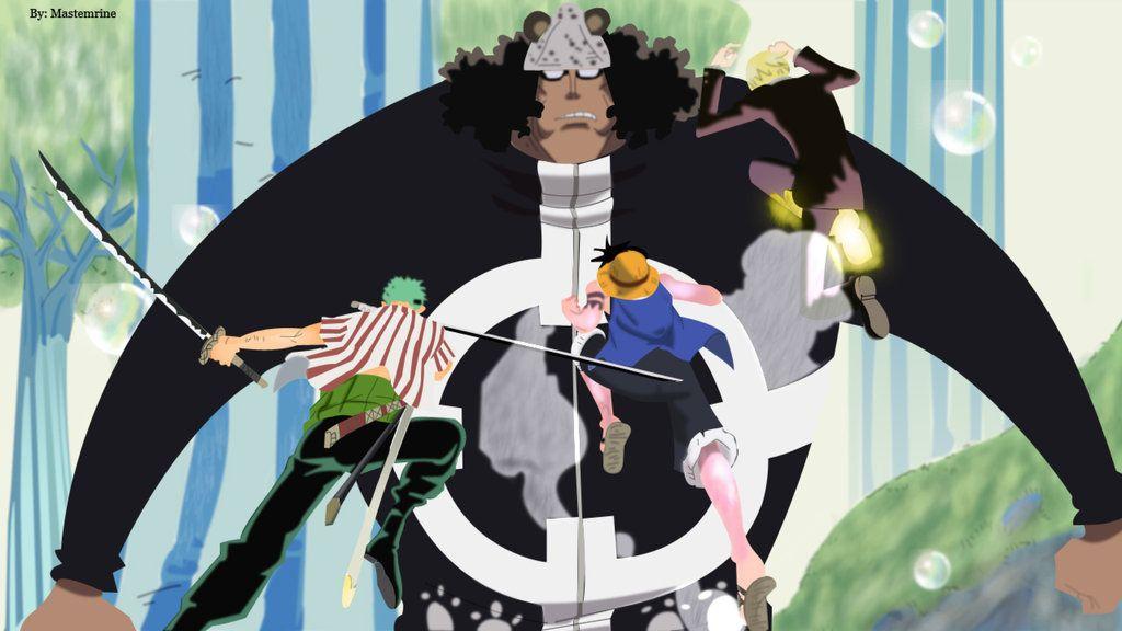 Kuma Vs Straw Hats Colored One Piece Manga One Piece Anime Awesome Anime